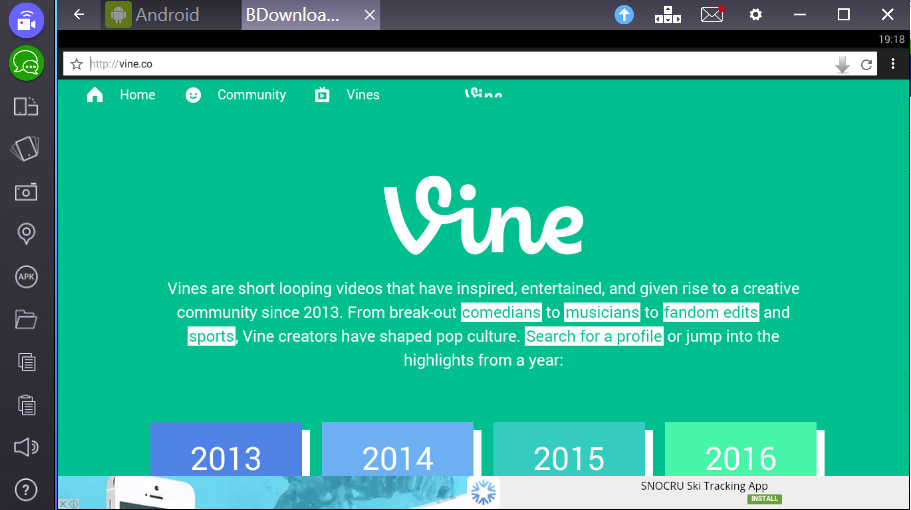 Application for download video from Vine